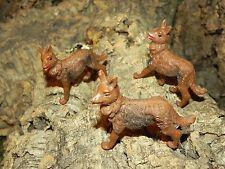 "Nativity Animal Wolf Figurines Set/3 for 3.5"" Presepio Pesebre Perros Animales"