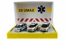 Coffret SAMU 03 - Renault Espace 1988 + Espace 1996 + Espace 2002 - 1/43 NOREV
