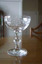 Hawkes Glass Wheel Cut Barclay Tall Sherbet/Champagne Stem 7330 Free Shipping