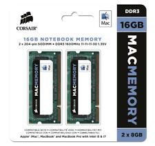 Corsair CMSA16GX3M2A1600C11 Apple Mac 16GB 2x8GB DDR3 1600Mhz CL11 Apple SODIMM