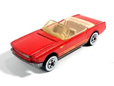 Hot Wheels 1991 '65 Ford Mustang Convertible Red Hood Opens HW Mainline Vintage