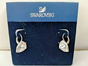 SWAROVSKI CRYSTAL EARRINGS.CLEAR STONE.LEVERBACK FOR PIERCED EARS.BOXED.BNWT.