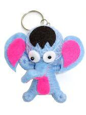 Cartoon Blue Elephant Voodoo String Doll Charm Key Ring Keyring Bag Toy Charm