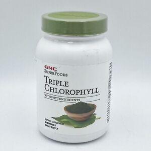 GNC Superfoods Triple Chlorophyll 90 Caps exp 06/23