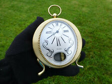 VINTAGE SWISS MUSICAL ALARM CLOCK REUGE POCKET WATCH STYLE CASE (WATCH VIDEO)