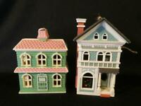 2 Russ Dollhouse Christmas Tree Ornaments