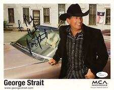 George Strait hand signed 8x10 color photo Great Pose To Rick Jsa Coa