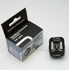Pixel TF-322 Nikon i-TTL Flash Hot Shoe to PC Sync Socket Convert Adapter