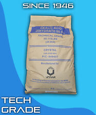 Oxalic Acid Dihydrate 99.6% 55 lb Pure Rock Deck Wood Driveway Rust Cleaner