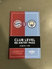 Flyer Card FC Bayern München Manchester City ICC USA Tour 2018 FCB