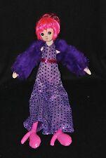 Peluche doudou poupée SEPHORA Stacy Fever Noël 2007 boa violet 38 cm TTBE