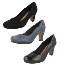Clarks Suede Wide (E) Block Heels for Women