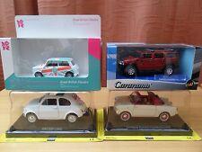 die cast models Autobianchi, Fiat 500, Hummer H2, Mini Cooper 1:24 & 1:43 BNIB
