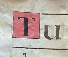 16th century HUGE ORIGINAL handwritten medieval VELLUM manuscript, free ship ww