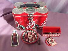 "Coca Cola memorabilia tin container and magnets 6""x4"""