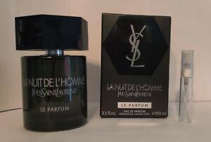 YSL La Nuit De L'Homme Le Parfum 5ml **SAMPLE** EDP, travel size for men cologne