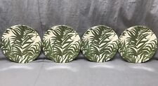 Pottery Barn Set/4 Coconut Palm Leaf Melamine Salad Plates