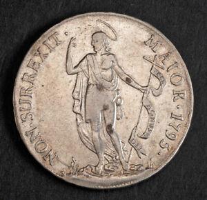 1795, Genoa (Republic). Scarce Silver 4 Lire (1/2 Piastra) Coin. Cleaned aXF!