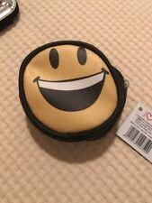 Portamonete Tondo Smile Giallo E Nero