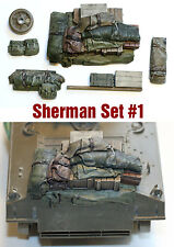 1/35 scale resin Sherman Tank Engine Deck and Stowage Sets #1 WW2 military model