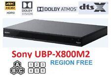 Sony UBP-X800M2 REGION FREE BLU-RAY DVD PLAYER ZONE A B C DVD 0-9 Dolby Vision