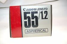 Canon Lens FD 55mm 1:1,2 S.S.C. Aspherical Objektiv OVP