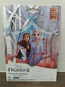 "Frozen 2 - 33"" Foil Balloon snowflake shape with Anna & Elsa.  Fill w helium/air"
