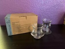 Partylite Clearly Creative Ultimate Votive Pair Glass Used P91623