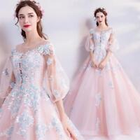 Pink Embroidery Dreamlike Princess Fairy Dress Girls Party Cocktail Evening Gown