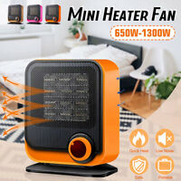 220V 650W -1300W Mini Heizung Heizlüfter Elektroheizer Heater Fan 2Heizstufe