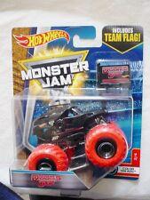 "MONSTER JAM "" DOOMS DAY RED COLOR WHEELS "" HOT WHEELS DIE CAST TRUCK CAR"