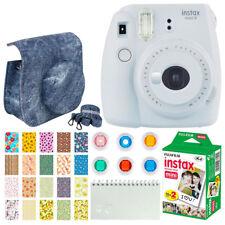 Fujifilm Instax Mini 9 Instant Film Camera Smokey White + Instax + Case + Frames