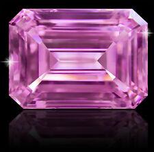 18 ct Stunning Pink Emerald Cut Vintage Top CZ Moissanite Simulant 18x13 mm