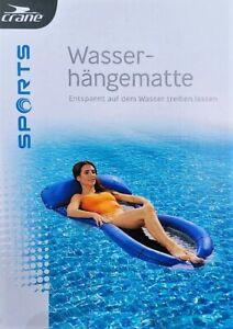 Mesh Lounge Wasserhängematte Wasserliege Luftmatratze Farbe: blau, crane® NEU