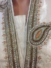 "mens indian Kurta Pajama Silk Heavy Stone Jaquard sherwani Size 38"""