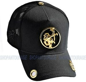 Red Monkey Logo Ring Black RM1339 New Limited Edition Unisex Trucker Cap Hat