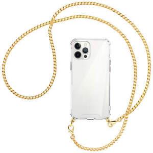 Collier pour Apple iPhone 12 Pro Max chaîne en métal (O) Etui Coque avec cordon