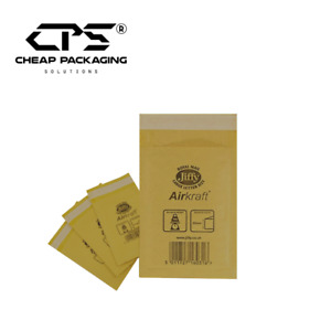 All Size - CPS Genuine Jiffy Bubble Padded Envelopes Mailers - Gold - 200 Pcs