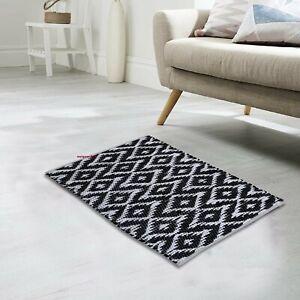 Rug 100% Natural Cotton 2x3 Feet Hand woven Area Rug Floor Mat Carpet Yoga Rug