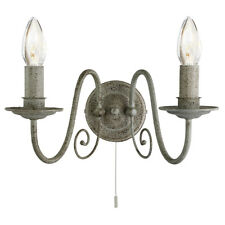 Searchlight 3362-2GY Greythorne 2 Light Wall Bracket Textured Grey