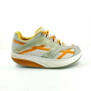 MBT M. Walk Walking Shoe Womens US 7 A EU 37 White Gray Orange Rocker