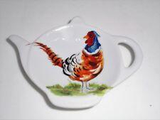 BN Pheasant Tea Bag Tidy, Tea Bag Rest, Porcelain Ceramic Tea Bag Holder,