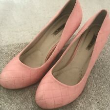 Jumex Ladies Quilted Pump Shoes Artificial Leather Size 40 UK6.5 in Rose Elegant