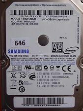 500GB Samsung HM500JI | 33851F14AA085O | 2009.11 #646