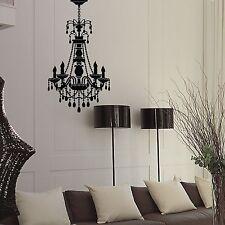 Chandelier Hanging Lamp Black Vinyl Wall Decal Sticker Home Bedroom Office Decor