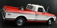 1 1970s Chevy Pickup Truck Vintage Classic Car Sport Carousel Red Metal Model 18