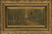 Lascelles - Signed and Framed Mid 20th Century Oil, In The Birch Wood