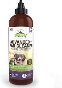 Ear Cleaner for Cats Dogs - Ear Washing Solution w/Aloe - Odor 8 oz
