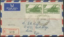 PAPUA NEW GUINEA: KANDRIAN: 1956 (May 28) reg'd cover to FIJI