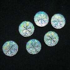20pcs Resin AB color snowflake round/FlatBack Appliques/Christmas DIY craft-C002